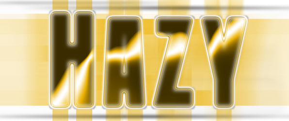 Hazy Horizons Text Effect Action