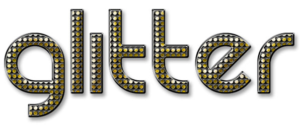 1930's Glitter Text Effect Action
