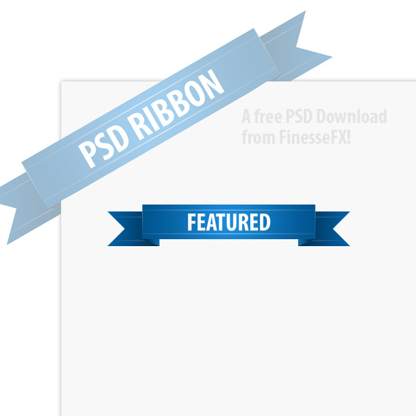 PSD Download: Simple Ribbon